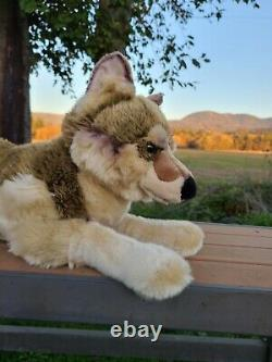 FAO Schwarz 18 Plush wolf dog NWT Vintage and Rare