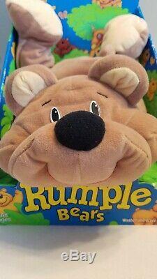 Fisher Price Rumple Bear Tan Plush Floppy Toy Vintage 1993 NEW IN BOX