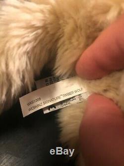 GANZ Webkinz Signature Timber Wolf Plush No Code Rare and Retired