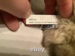Ganz Webkinz Signature Timber Wolf Plush WKS1008 Retired RARE No code