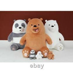 Genuine We bare Bears Ice Bear Sitting 70cm 27.5in Plush Toy Stuffed Doll