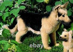 German Shepherd / Alsatian by Kosen / Kösen collectable soft toy dog 4060
