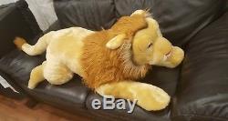 Giant Big Plush Stuffed Lion Toy Pillow 45(114 cm)