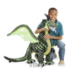 Giant Huge Fantasy Winged Dragon Plush Soft Toy Melissa & Doug NEW