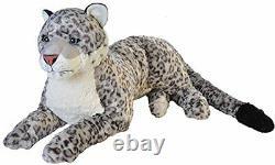 Giant Snow Leopard Ultrasoft Plush Stuffed Animal Toy Kids Gift 30 inch