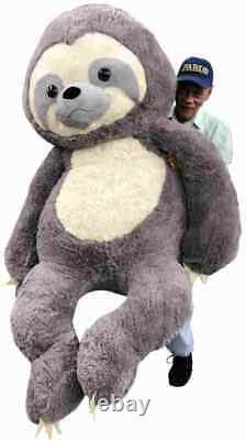 Giant Stuffed Sloth 7 Foot 84 Inches Soft 213 cm Big Plush Huge Stuffed Animal