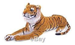 Giant Tiger Stuffed Animal Plush Soft Doll Toy Kids Cuddle Pillow Lifelike Jumbo