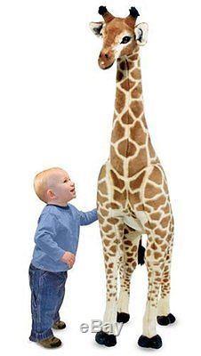 Gigantic Stuffed Giraffe Animal Big Plush Kids Toy 57.5 Inch Tall Lifelike Large