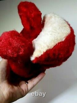 Gorgeous Vintage Rushton Slick Hot Red Foxy Fox Plush Stuffed Animal With Rubber