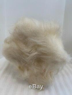 Gund Rubber Face Rabbit Mouse White Long Hair Stuffed Animal Plush Vintage
