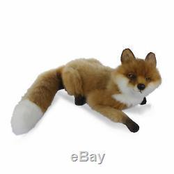 HANSA LAYING FOX REALISTIC CUTE SOFT ANIMAL PLUSH TOY 60cm NEW
