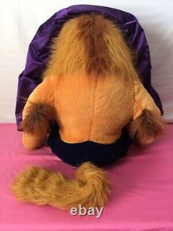 HTF Rare Disney Beast Plush Jumbo Large Beauty & The Beast 36 Tall Damaged