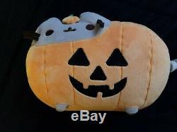 Halloween Pusheen Pumpkin GUND Plush Jack O' Lantern Rare NO TAG