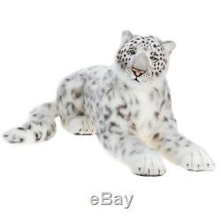 Hansa Crouching Siberian Mama Snow Leopard Plush Toy Stuffed Crafted Soft Cuddly