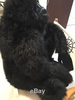Hansa Life Size Realistic Stuffed Plush Gorilla