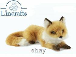 Hansa Lying Fox Cub 6990 Plush Soft Toy Sold by Lincrafts Established 1993