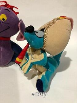 Heffalump & Woozle VTG Disney plush stuffed animal Winnie the Pooh Lot Dakin Set
