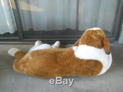 Huge Jumbo plush stuffed St bernard puppy dog Realistic soft clean nice 44 long
