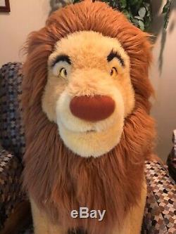 Huge RARE Jumbo 30 MUFASA Stuffed Plush Disney Lion King Giant