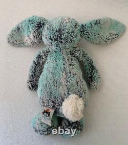 JELLYCAT Bashful Pistachio Bunny Plush Green Gray Special Edition 12 Rare VHTF