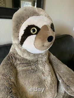 JUMBO SLOTH PLUSH 4 FT XL TALL Large Stuffed Animal Huge GIANT Soft Toy Easter