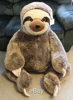 JUMBO SLOTH PLUSH 4 Feet Tall X-Large Stuffed Animal HUGE BIG GIANT XL Buddy New