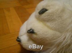 JUMBO size POLAR BEAR plush stuffed shaggy animal 60 (5 feet) long