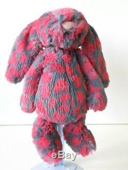 Jellycat Bashful Lucie Special Edition Soft Pink & Grey Bunny Retired