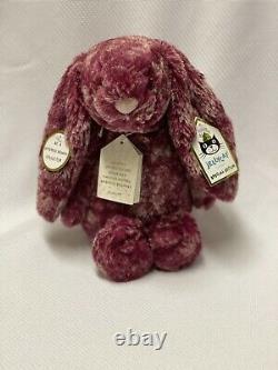 Jellycat Bashful Special Edition Blackberry Bunny Rabbit Medium Retired NWT