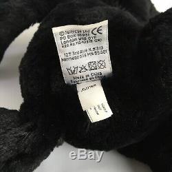 Jellycat Medium Treacle Black Bashful Bunny Beanie Plush Soft Toy H 12 Rare