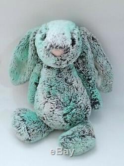 Jellycat Pistachio Bunny 11 Plush Rabbit Bashful Stuffed Animal Blue Green