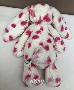 Jellycat Special Edition Bashful Keeley Bunny Rabbit Soft Toy White Pink Spots