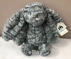 Jellycat Special Limited Edition Ollie Bashful Bunny Rabbit Soft Toy Grey + Tags