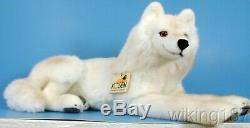 KOSEN Made in Germany NEW White Lying Arctic Wolf PLUSH TOY