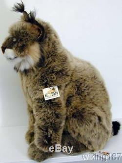 KOSEN Of Germany #3550 NEW Large Sitting Lynx Cat PLUSH TOY