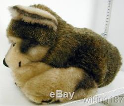 KOSEN Of Germany #5330 NEW Large Lying Gray Wolf Cub Plush Toy