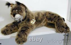 KOSEN Of Germany #5920 NEW Large Lying Lynx Cat Plush Toy