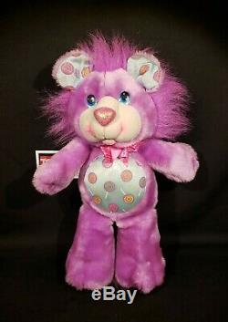 Kenner vintage Party Yum Yums plush stuffed animal- jolly lollipop lion purple