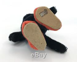 Kersa Germany Black Cat Mackemau Puss n Boots 1950s Mohair Plush 16cm 6in ID Tag