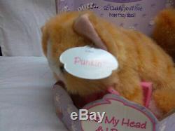 Kitty Kitty Kittens Punkin Purring Sound Kitty Kitten Cat Plush DSI 2001 New