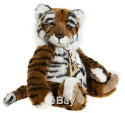 Konig by Charlie Bears jointed plush collectable tiger teddy bear CB202051