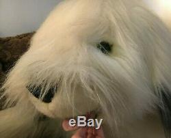LARGE Life Size 69 Realistic Old English Sheep Dog Plush Toy Stuffed Animal