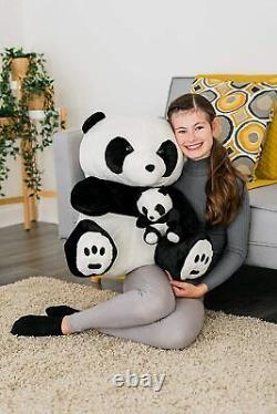 Large 70cm Panda Teddy Bear Cuddly Plush Stuffed Animal Soft Toy Kids Gift Xmas