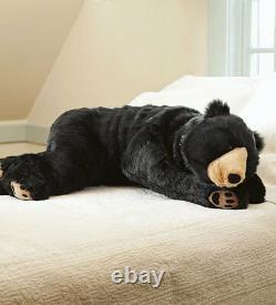 Large Plush 4ft Black Bear Body Pillow Giant Oversized Soft Stuffed Animal 48L