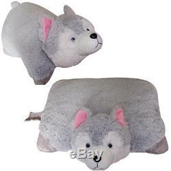 Large WOLF PET PILLOW, 18 inches, Plush & Plush Brand my Stuffed Gray New