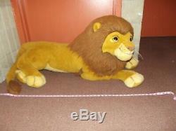 Large stuffed plush 5 foot Simba Disney Douglas