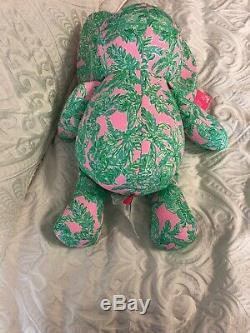 Lilly Pulitzer Elephant Stuffed Animal Plush Toy NEW PINK SAND PARADISE MINNIE