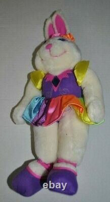 Lisa Frank Stuffed Plush Ballerina Bunnies 24K vintage USED