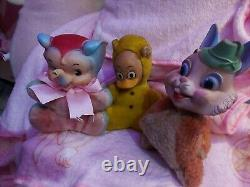 Lot Of Rubber Face Animals Rushton My Toy Vintage Plush