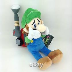 Luigi's Mansion 2 Luigi Super Mario Plush Toy Stuffed Animal with Vacuum Doll 9